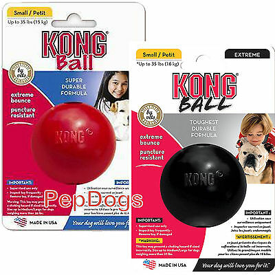 """KONG Rubber Ball Bouncing Dog Toy Small / Medium 2.5"""" Durable Puncture Resistant"""