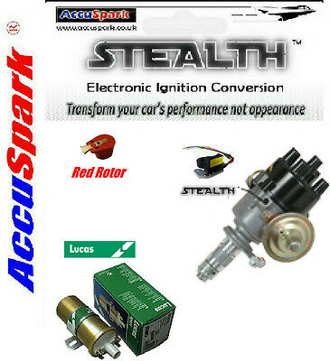 Reliant Robin  AccuSpark Electronic 45D distributor,Lucas Sport coil red rotor