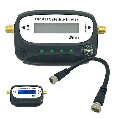 Satfinder Digital Sat Finder mit LCD Display Kompass Ton HD Anschluss vergoldet