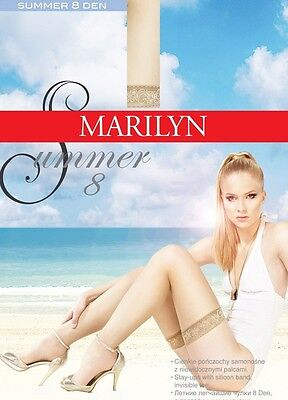 """Exclusive Hold-ups by Marilyn """"SUMMER 8"""" -8 Denier - 6 cm Deep Lace Top"""