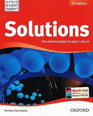 Oxford SOLUTIONS 2nd Edition Pre-Intermediate Student's Book | Falla Davies @NEW