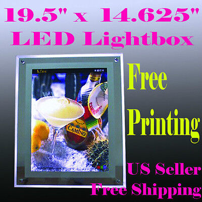 "A3 LED Slim Crystal Frame Light Box 19.5""x14.6 Tattoo Advertising Free Printing"