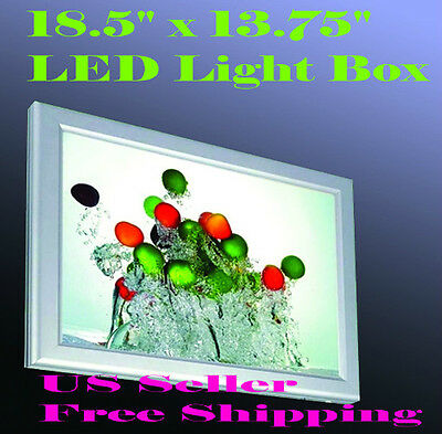 "A3 LED Slim Aluminum Frame Light Box 18.5"" x 13.75"" Advertising Lightbox Poster"