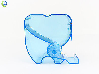 Dental Cotton Roll Dispenser Molar Shaped See-through BLUE color