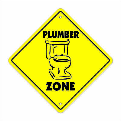 PLUMBER ZONE Sign xing gift novelty tools snake plunger pipe supplies jobs