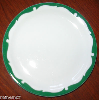 Shenango Restaurant Ware Green Spray Border Bread Plate ~ Excellent ~ Fast Ship!