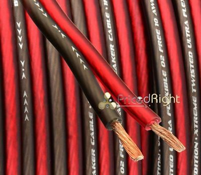 50 FT 10 Gauge Professional Gauge Speaker Wire / Cable Car Home Audio AWG
