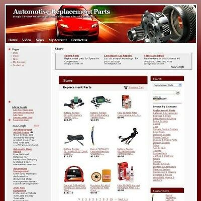 Automotive Replacement Parts Online Business Website For Sale! Free Domain Name!