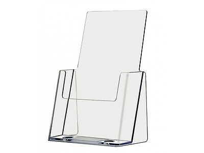 "Half Page Brochure Display Rack Counter Holder Stand Wholesale Clear 6"" Wide"