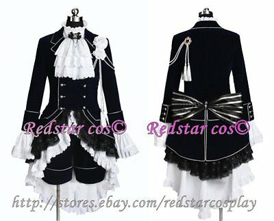 Black Butler Cosplay Ciel Phantomhive Dark Blue Costume -Custom made in Any size