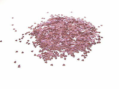 Pink Sparkle Heart Wedding Confetti Table Decoration