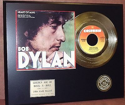 Bob Dylan Gold 45 Record Award Quality Collectible Memorabilia Ltd Edtn  Display