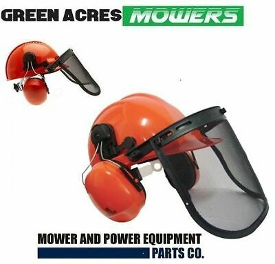 New Chainsaw Brushcutter Safety Helmet Mesh Visor & Ear Muffs For Chainsaws