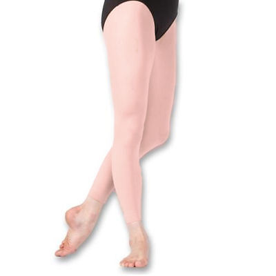 Capezio 1806 Women/'s Size Small Suntan Ultra Shimmery Footless Tights