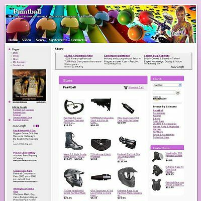 Established Online Paintball Store Business Website For Sale! Free Domain Name!