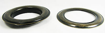 """2pc. Large #12 (1.5"""" Hole) Antique Brass Curtain Grommets w/ Washers 32-37-01"""