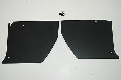HJ HX HZ HOLDEN Kick Panels Black (pair) Inc 4 Trim Buttons *Top Quality*
