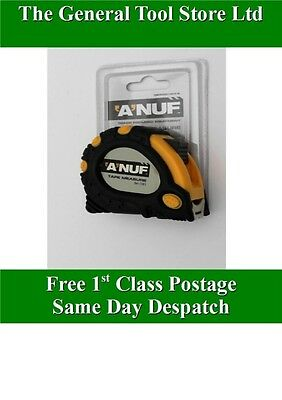 5 Metre  16Ft 16' Anuf Locking Tape Measure Rubber Grip Trade Quality 5M 15Ht.b