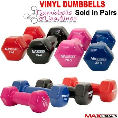 Vinyl Dumbbell Set Ladies Training Aerobic Weights Strength Training Gym Weight