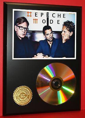 DEPECHE MODE 24kt GOLD CD/DISC COLLECTIBLE RARE AWARD QUALITY PLAQUE GIFT