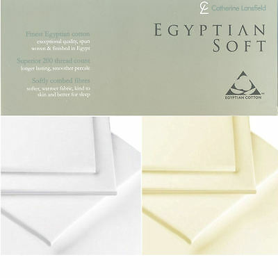 Luxury 100% Egyptian Combed Cotton Fitted Sheets Catherine Lansfield Bedding