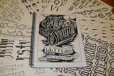 """""""get Some Letters"""" Tattoo Lettering Book By Mr. Fit.  45 Custom Alphabets"""