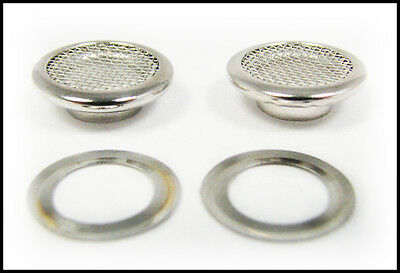 25pc. 15mm Outside Dia. Screened Shiny Nickel Grommets & Washers