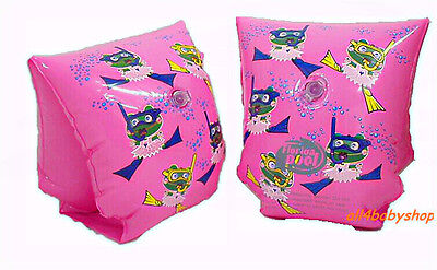 Baby Swimming Float Inflatable Training Arm Bands Infant Chilren Girl Pink 0-3Y