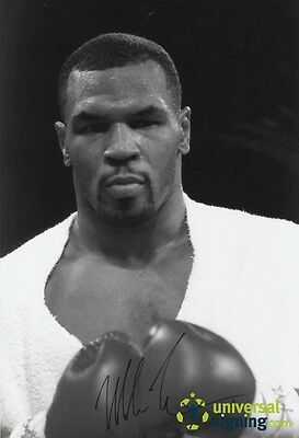 Iron Mike Tyson Hand Signed 18x12 Boxing Photo PROOF