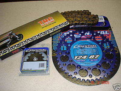THC Chain And Blue Renthal Sprocket Kit YZ YZF WRF WR 125/250/400/426/450
