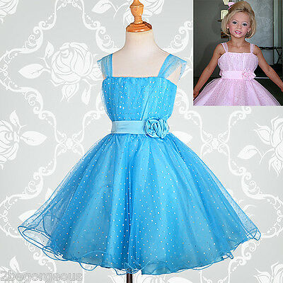 Flower Girl Dresses Wedding Bridesmaid Party Occasion Size 2-12 Years #031A