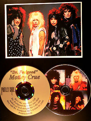 Motley Crue Dr Feelgood - Picture Disc & Laser Lyric CD Display - USA Ships Free