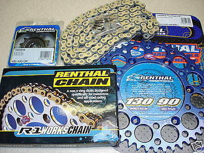 New Renthal Chain And Blue Sprocket Kit YZ YZF WRF 125 250 400 426 450 99-2021