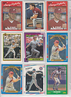 Lot of 54 Len Dykstra Baseball Cards NM Lots of different ones.... *0464
