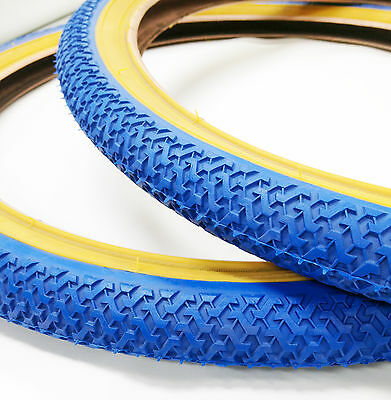 Old School Bmx Freestyle Tyres Kenda Sold In Pairs Of 2 Blue