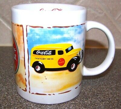 COCA COLA COFFEE MUG Vintage General Store and Delivery Truck ICE COLD SOLD HERE
