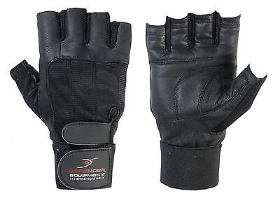 Gym Gloves Bodybuilding Weight Lifting Fitness Strength Training Workout Leather