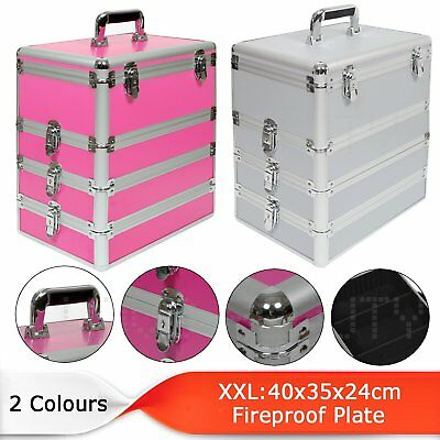Extra Large Professional Beauty Cosmetic Storage Box Jewelry Make Up Vanity Case