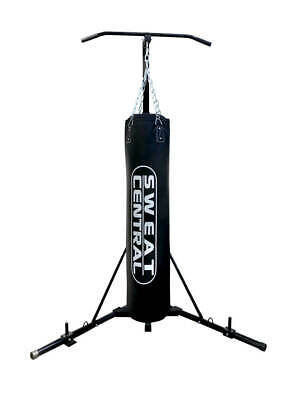 Free Standing Foldable Boxing Bag & Chin Pull Up Bar Stand Punching Bracket