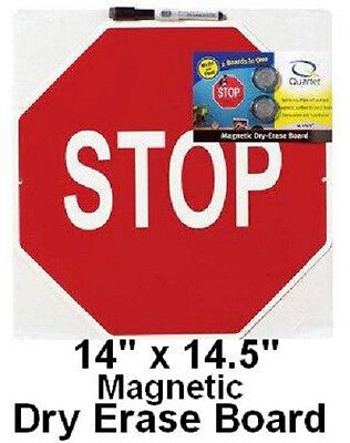 STOP SIGN MAGNETIC DRY ERASE MEMO BULLETIN BOARD marker auto slate magnet G100