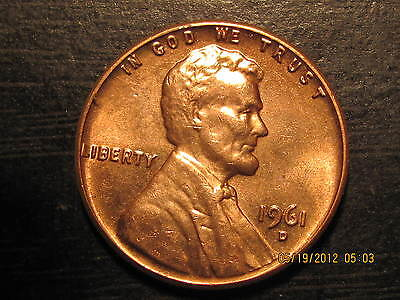 1961 D - Lincoln  Memorial Cent from- BU - Roll-Tempting