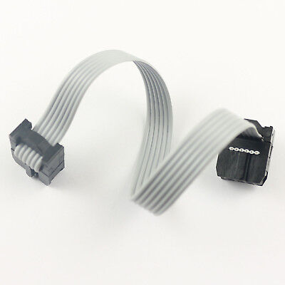 2Pcs 2.54mm Pitch 2x3 Pin 6 Pin 6 Wire IDC Flat Ribbon Cable Length 15CM