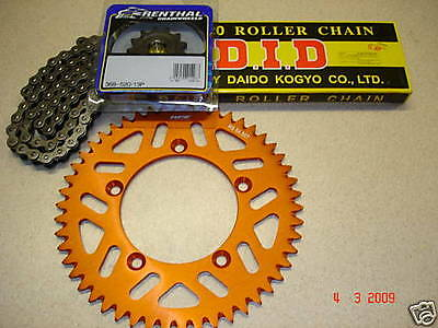 DID Chain And Orange RFX Sprocket Kit KTM SX 85 Big or Small Wheel Motocross