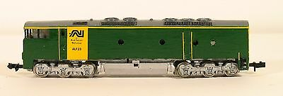 """N Scale Australian National ALF-23 Yellow and Green scratch built """"Flat Nose"""""""