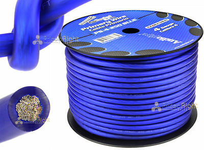 25FT Blue 4 Gauge Primary Speaker Wire or Amp Power or Ground Car Audio FLEXIBLE