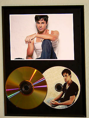 Enrique Iglesias - 24k Gold CD & Picture Disc Display - USA Ships Free