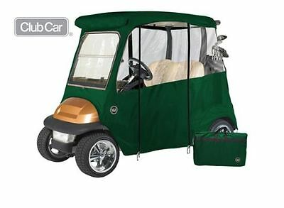 Custom Drivable 2 Person Golf Cart Enclosure Cover for Club Cars - Green