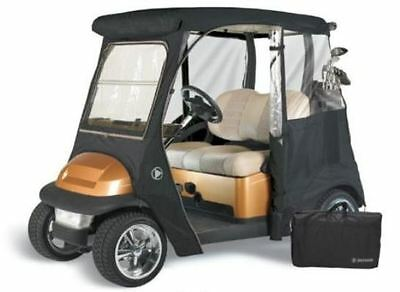 Custom Drivable 2 Person Golf Cart Enclosure Cover for Yamaha Drive - Black