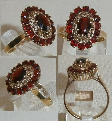 Ring 333 Gold mit Granate   (d0266)