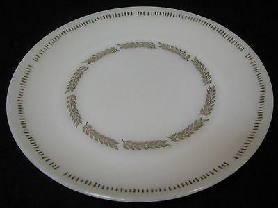 Federal Glass Company USA, ca. 1940's Serving Platter. White with gold leaves